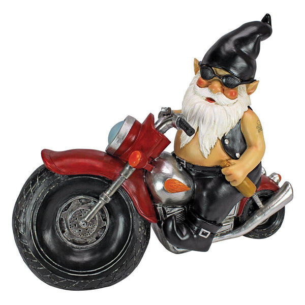 Axle and His Motorcycle Garden Gnome Statue-GoGetGlam