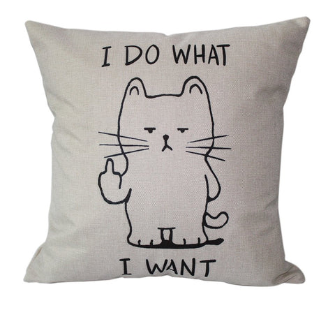 I Do What I Want Sarcastic Cat Throw Pillow - GoGetGlam Boho Style