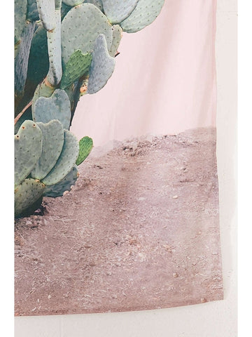 Prickly Pear Desert Cactus Pink Wall Tapestry-GoGetGlam