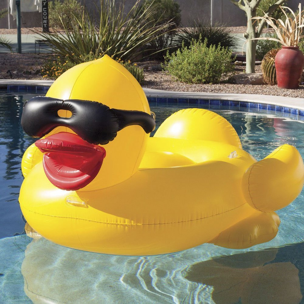 Rubber Duckie Inflatable Pool Float Cup Holders Handles. Previous