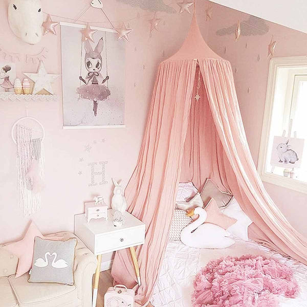 Pink Princess Bed Canopy & Fairy Lights