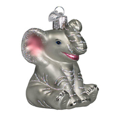 Elephant Blown Glass Christmas Ornament-GoGetGlam
