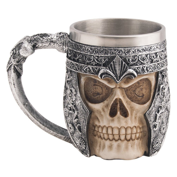 Viking Stainless Steel Skull Coffee Mug-GoGetGlam