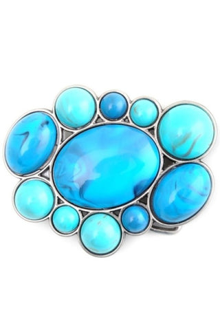 Random Pebble Boho Belt Buckle