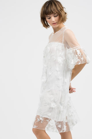 Wendi White Lace Dress-GoGetGlam