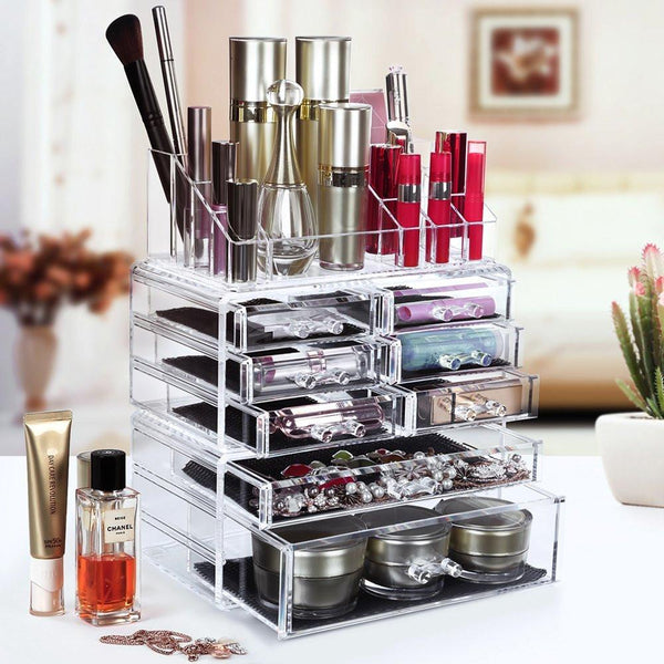 8 Drawer Acrylic Makeup Storage Unit-GoGetGlam