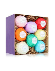 8 Essential Oil Bath Bombs Gift Set-GoGetGlam