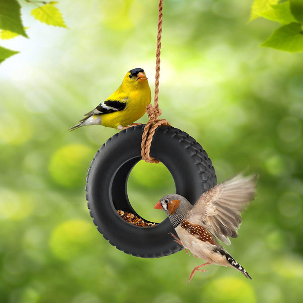 SWING TIME Tire Swing Bird Feeder-GoGetGlam