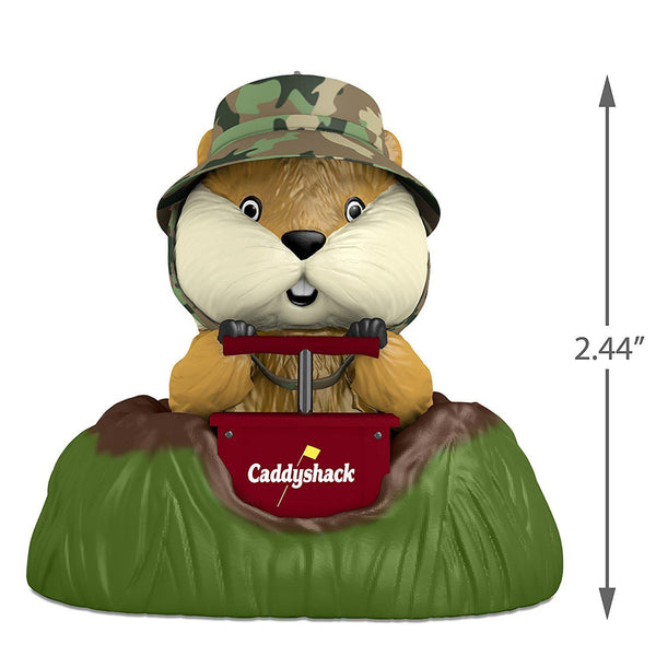 Hallmark Caddyshack Gopher Christmas Ornament