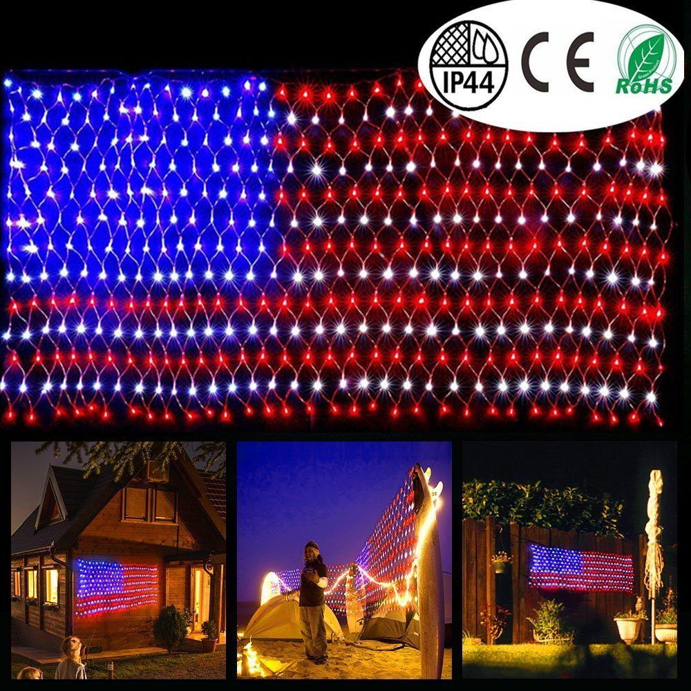 American Flag LED String Light Sign