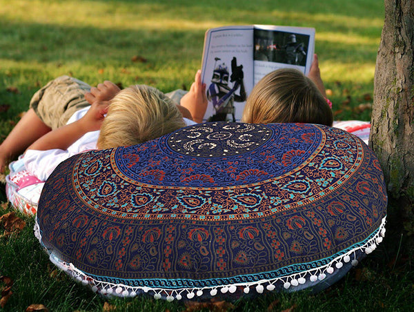 "Bekka Boho Home 32"" Round Floor Pillow-GoGetGlam"