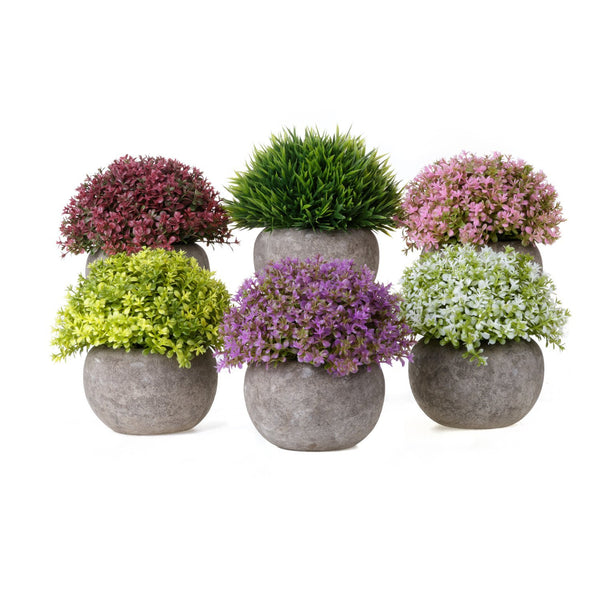 Pack of 3 or 6 Artificial Potted Plants - GoGetGlam Boho Style