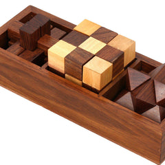 3-in-One Wooden Puzzle Games Set-GoGetGlam