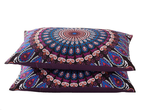 Kourtney Boho Purple Blue Tapestry Duvet Cover SET