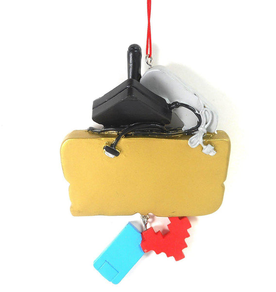 Retro Video Gamer Christmas Ornament