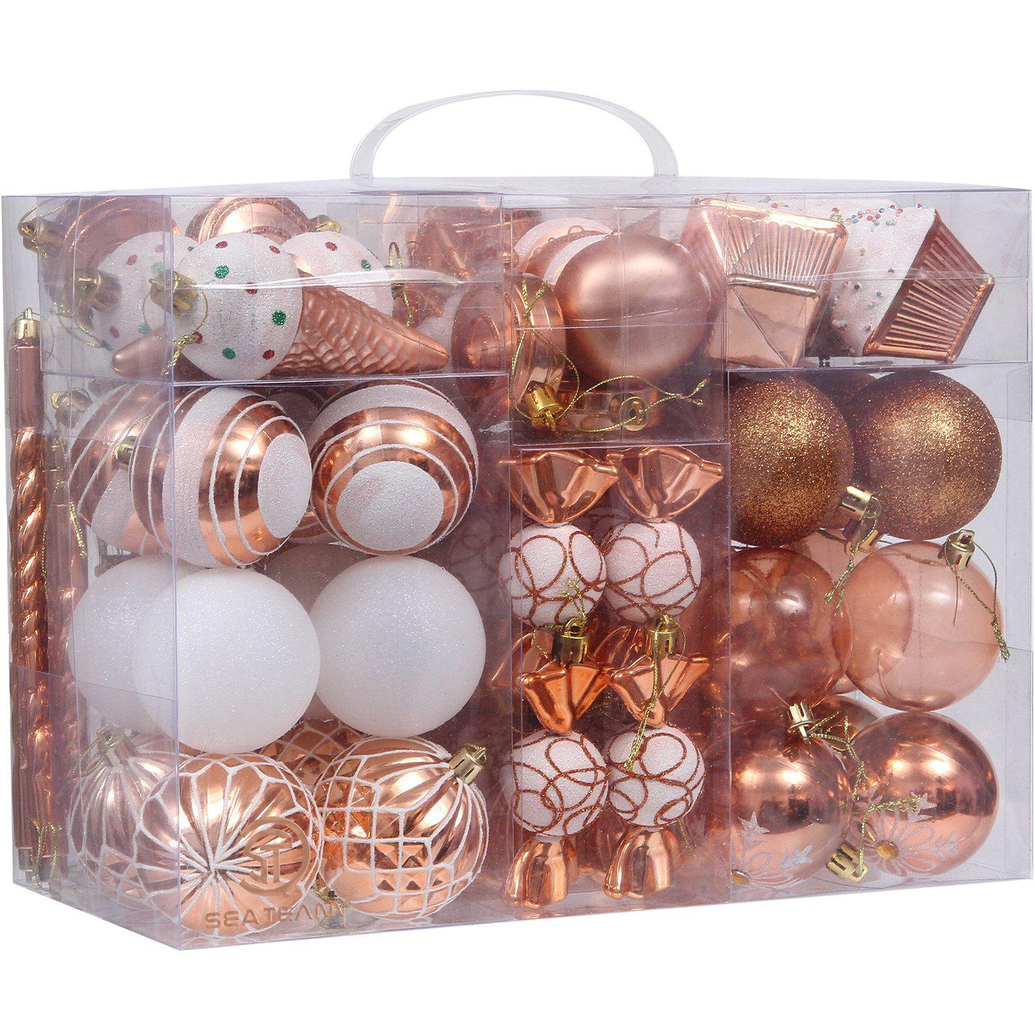 81-Pack Assorted Shatterproof Christmas Ball Ornaments Sets-GoGetGlam