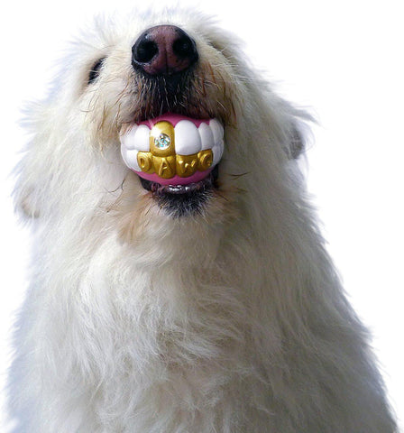 Poop Dog Rapper Grill Teeth Play Ball Toy-GoGetGlam