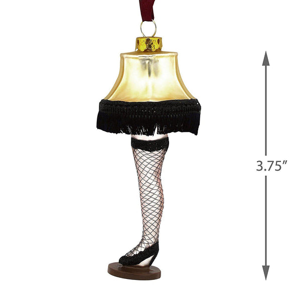 Hallmark Christmas Story Leg Lamp Glass Christmas Ornament
