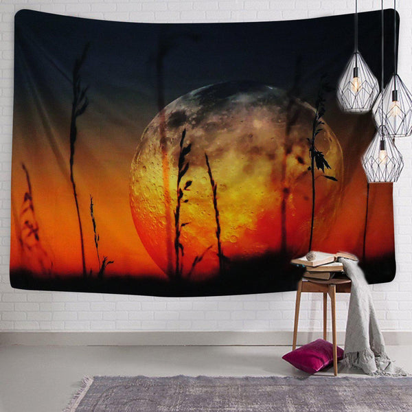Fire Lit Sky Boho Wall Tapestry-GoGetGlam