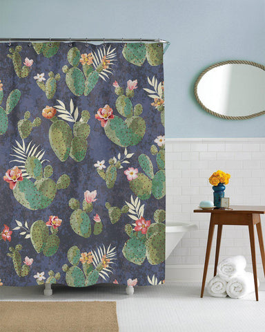 Cactus Flower Bathroom Fun Shower Curtain-GoGetGlam