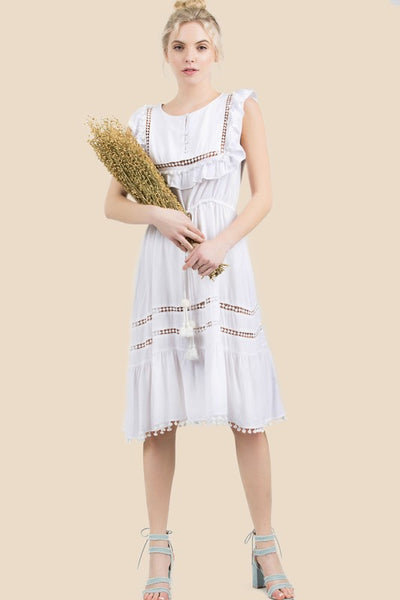 Willow White Ivory Boho Dress - Boho Bohemian Decor