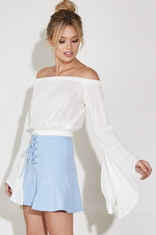 Off Shoulder Bell Sleeve Top-GoGetGlam