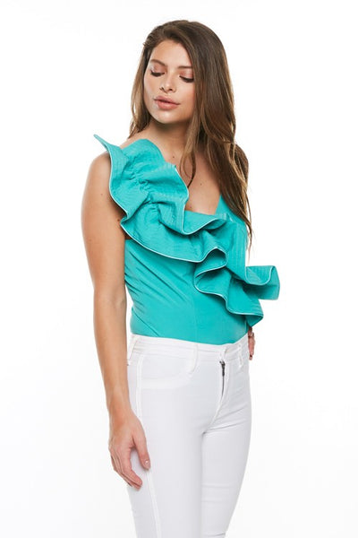 Raised Ruffle Bodysuit