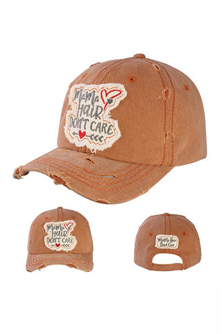 Mom Hair Don't Care Vintage Ball Cap-GoGetGlam