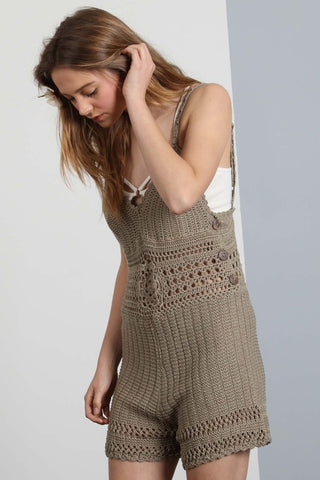 Best in Boho Crochet Knit Romper-GoGetGlam