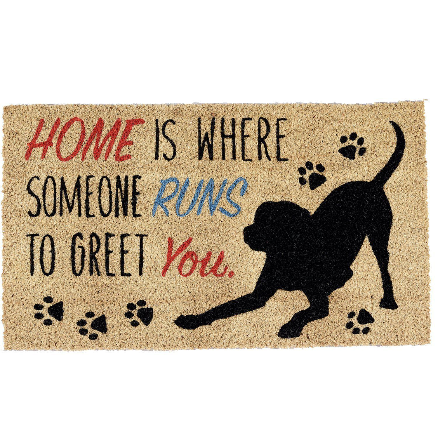 Dog Greeting Theme Coir Doormat-GoGetGlam