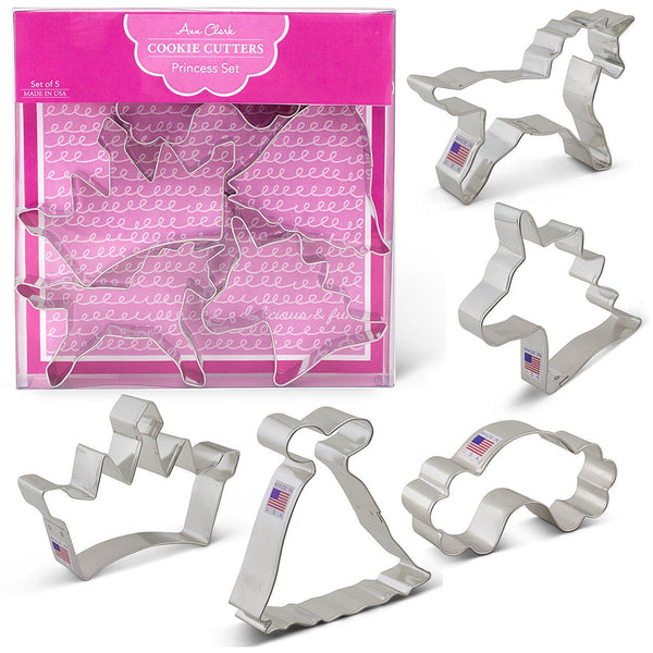 Unicorn Fairy Princess Cookie Cutter Set