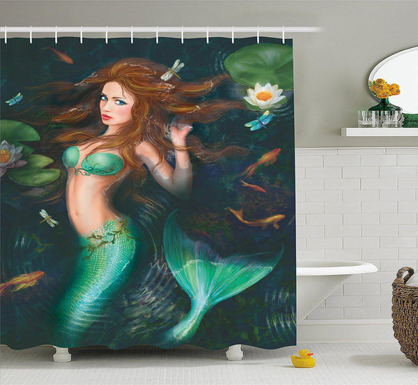 The Mermaid Shower Curtain-GoGetGlam
