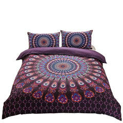 Kourtney Boho Purple Blue Tapestry Duvet Cover SET-GoGetGlam