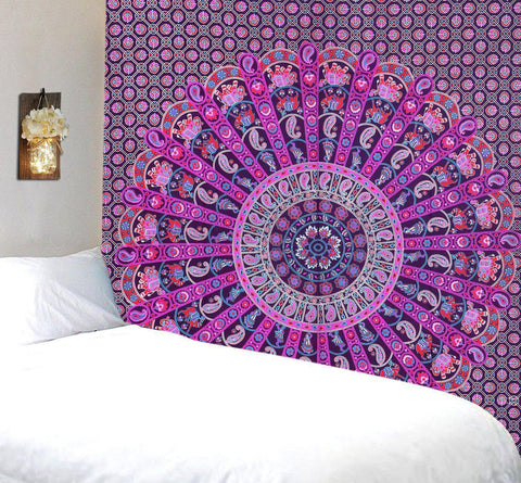 The Allianah Pink Purple Mandala Boho Bohemian Tapestry-GoGetGlam