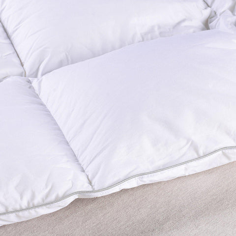 Luxury Hotel 1200 TC Egyptian Cotton Hypoallergenic Goose Down White Comforter-GoGetGlam
