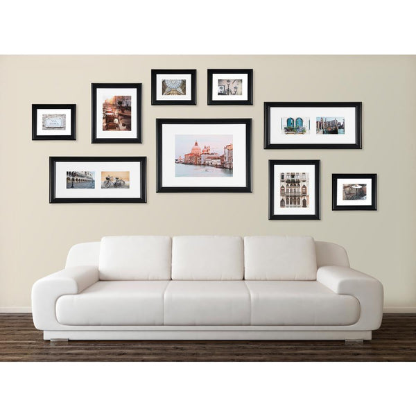 9PC Black Matted Picture Frame Wall Gallery SET - GoGetGlam Boho Style