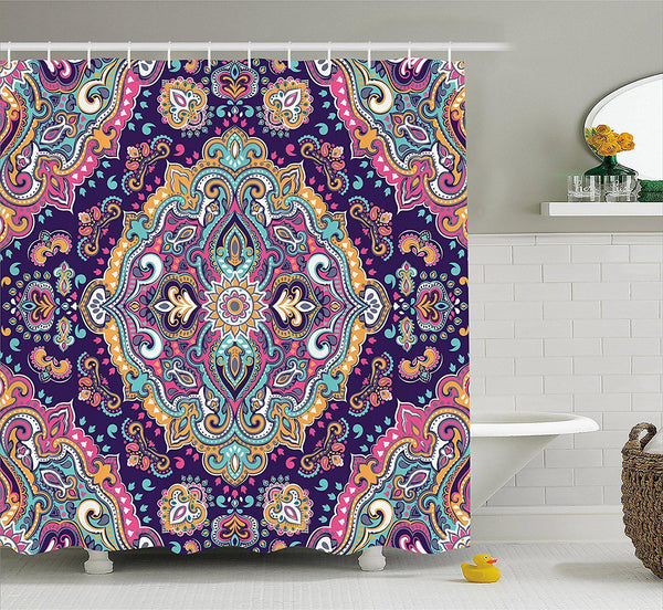 Bohemian Festival Shower Curtain-GoGetGlam