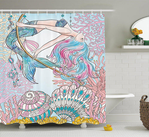 Mystical Mermaid Shower Curtain-GoGetGlam
