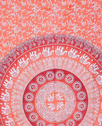 Opal Orange Ombre Bohemian Fabric Tapestry-GoGetGlam
