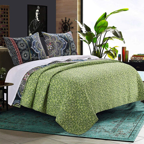 Best of Boho 3PC Quilt Bedding Set