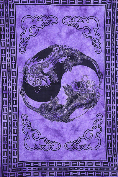 Purple Dragon Bohemian Fabric Tapestry-GoGetGlam