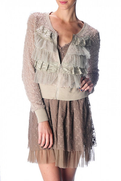Jenna Ruffled Lace Jacket-GoGetGlam