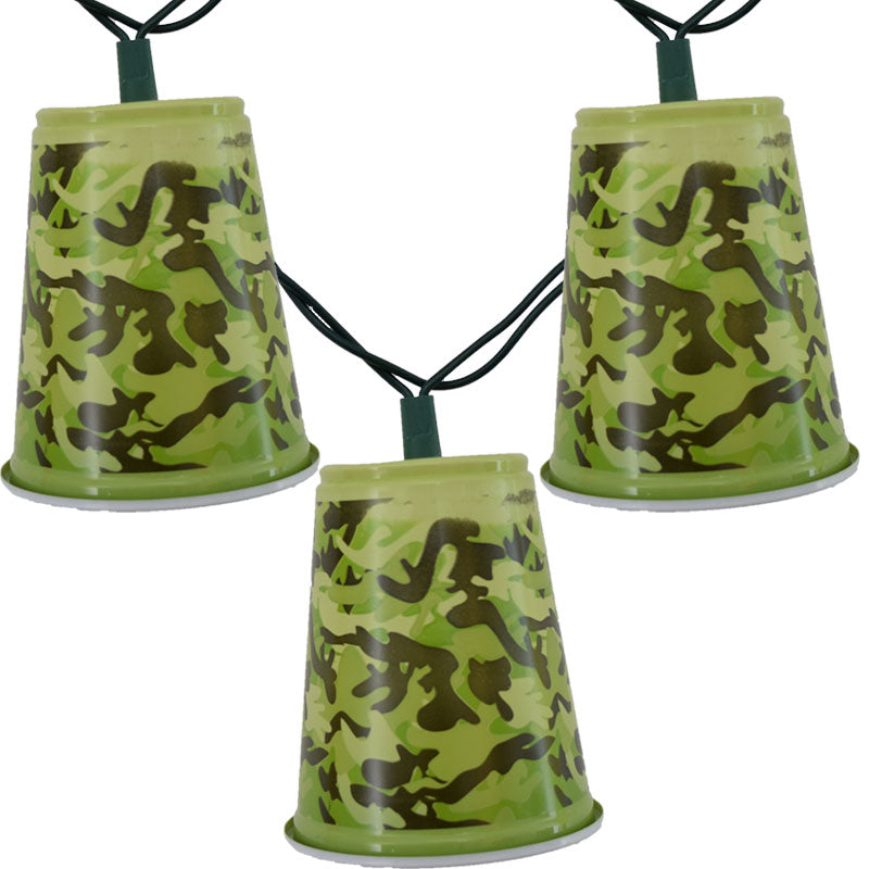 Camo Solo Party Cup String Lights-GoGetGlam