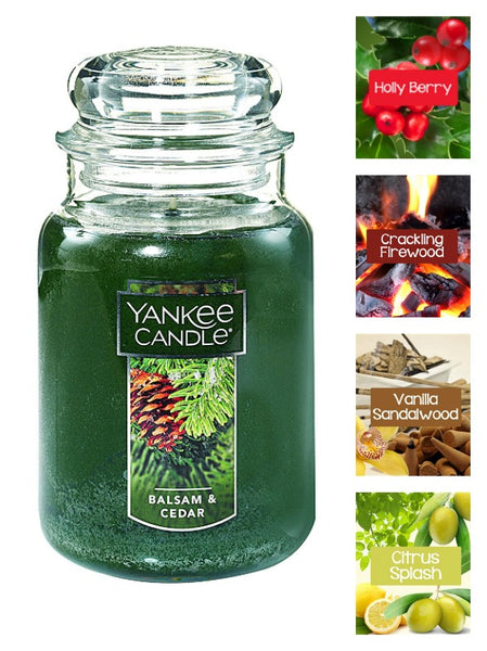 Yankee Candle Balsam and Cedar Large Jar Candle