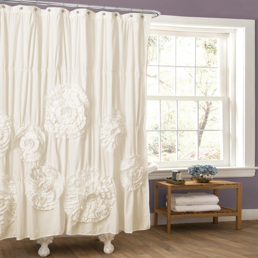 Beautiful Blossoms White/Ivory Shower Curtain-GoGetGlam