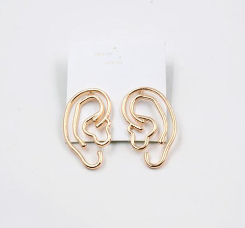 Ear Shaped Abstract Art Earrings - GoGetGlam Boho Style