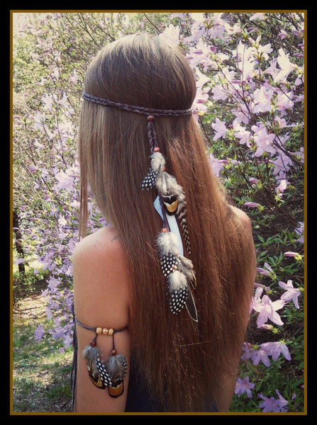 Boho Feather Headband-GoGetGlam