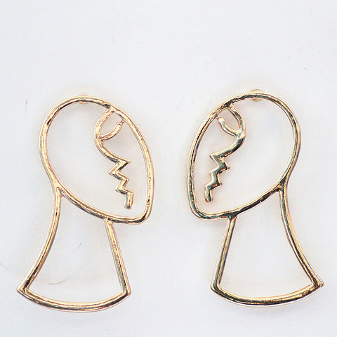 Painters Art Face Profile Earrings - GoGetGlam Boho Style