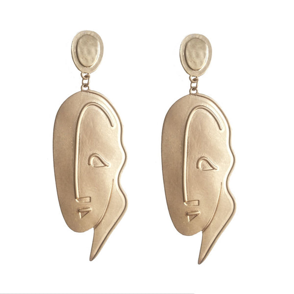 Painters Abstract Face Earrings - GoGetGlam Boho Style