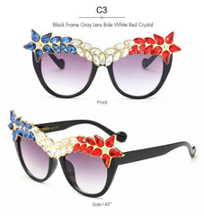 Callie Crystal Superstar Sunglasses-GoGetGlam